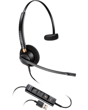 Plantronics EncorePro HW515 Mono Hardwired USB Headset