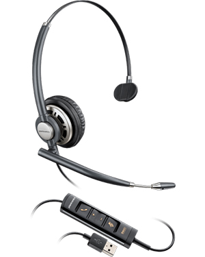 Plantronics EncorePro HW715 Monaural Hardwired USB Headset