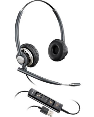 Plantronics EncorePro HW725 Stereo Hardwired USB Headset