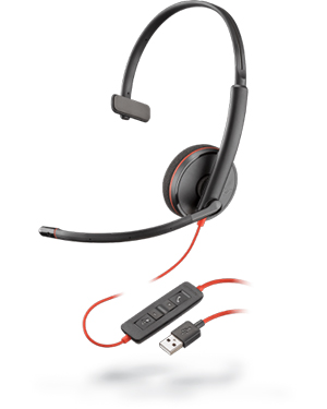 Plantronics Blackwire C3210 Monaural USB Headset 209744-101