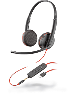 Plantronics Blackwire C3225 Stereo 3.5 mm/USB Headset