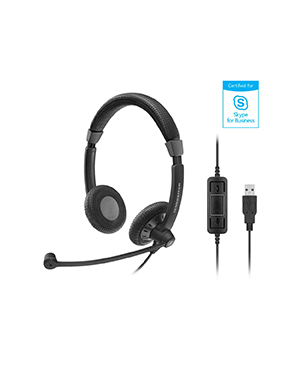 Sennheiser SC 70 USB MS BLACK Wired Headset (506502)