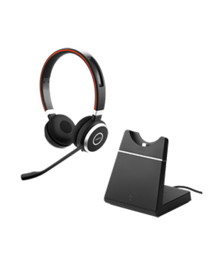 Jabra EVOLVE 65 UC Stereo Headset with Charging Stand (6599-823-499)