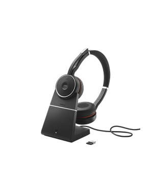 Jabra EVOLVE 75 Stereo UC Headset with Charging Stand (7599-838-199)