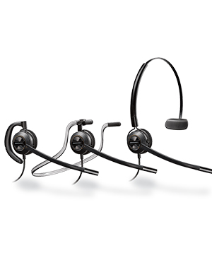 Plantronics HW540 EncorePro Convertible Wideband Headset (88828-01)