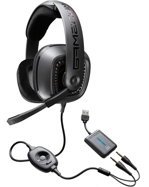 Plantronics Gamecom 777 USB Corded Headset with Dolby 7.1 surround sound & open-eared gaming USB headset noise-cancelling mic (79733-11)