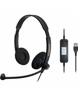 Sennheiser SC60 USB CTRL Wideband Binaural USB Headset NC (504549)