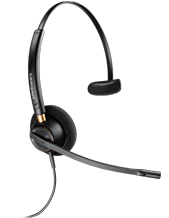 Plantronics EncorePro HW510D Mono Digital Headset 6-pin QD