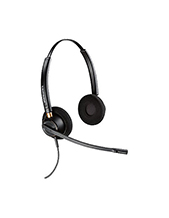 Plantronics EncorePro HW520D Stereo Digital Headset 6-pin QD