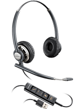 Plantronics EncorePro HW725 Stereo Hardwired USB Headset