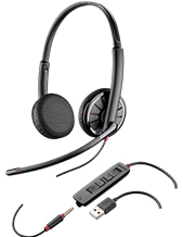 Plantronics C325.1-M, +3.5 mm/Lync Stereo Headset 204446-101