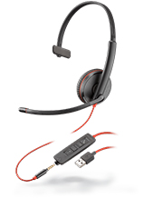 Plantronics Blackwire C3215 Monaural 3.5 mm/USB Headset