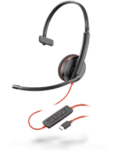 Plantronics Blackwire C3210 Monaural USB-C Headset
