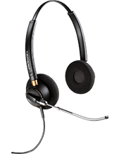 Plantronics HW520 EncorePro OTH Wideband Binaural Noise-Cancelling Headset (89434-11)