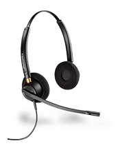 Plantronics HW520 EncorePro OTH Wideband Headset (89436-11)