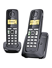 Gigaset A220A Duo Twin Handset with Answering Machine (A220ADUO)