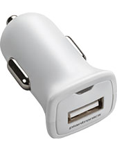 Plantronics White USB Car Charger (Cable NOT included) (89110-02)