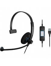 Sennheiser SC30 USB CTRL Wideband Monaural USB Headset NC (504548)